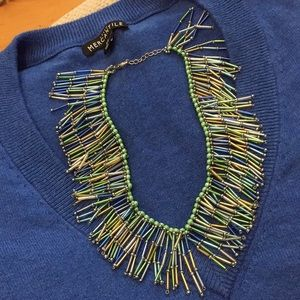 Jewelry - Fringed Statement Necklace